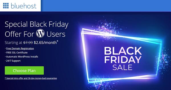 BlueHost Black Friday Deals - WodPress Hosting