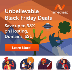 Namecheap Black Friday Deals and Coupons