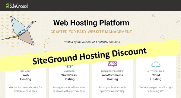 SiteGround Easter Hosting Discount