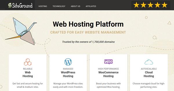 SiteGround Review - Web Hosting Platform
