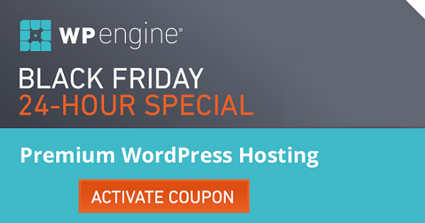 WPEngine Black-Friday Deals and Cyber Monday Sale