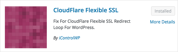 Cloudflare Flexible Free SSL WordPress Plugin