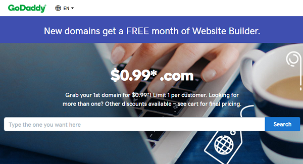 GoDaddy .COM Domain Promo Code