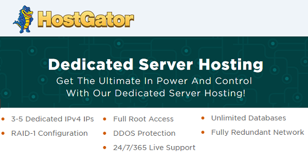 HostGator Dedicated Hosting Deals