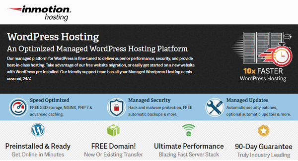 InMotion WordPress Hosting Deals