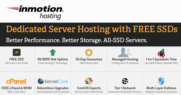 Inmotion Dedicated Hosting Deals