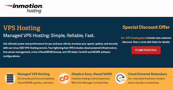 Inmotion VPS Hosting Deals