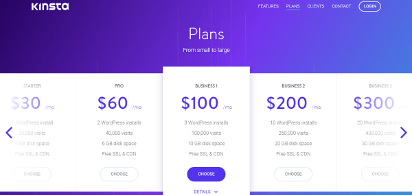 Kinsta Hosting Plans and Pricing
