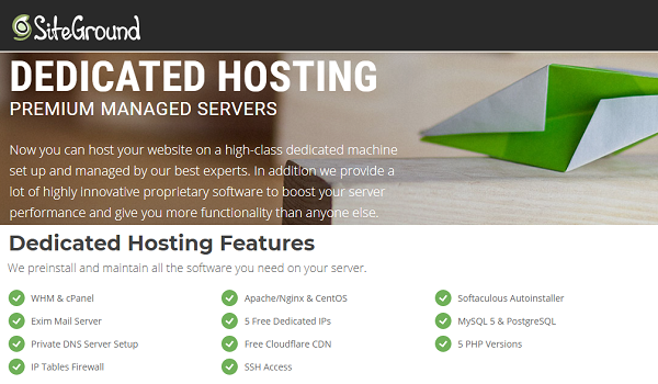 SiteGround Dedicated Hosting Discount