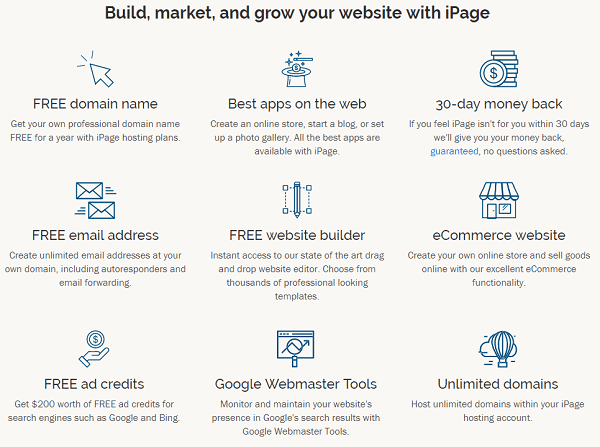 iPage Web Hosting Features