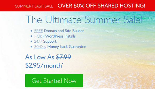 BlueHost Summer Sale