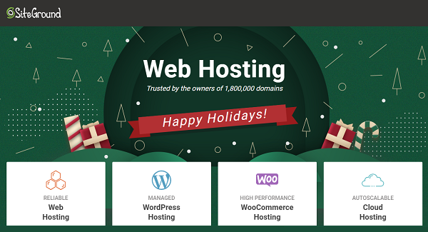 SiteGround Christmas Shared Web Hosting Deals