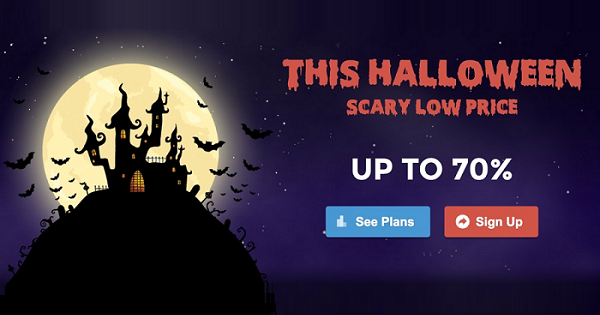 SiteGround Halloween Scary Web Hosting Sale