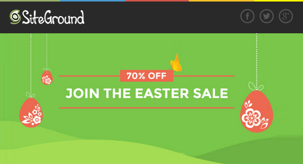 SiteGround Easter Deals