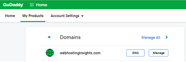 GoDaddy Domain DNS Management