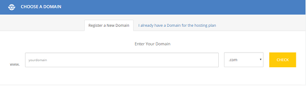Choose a domain name with MilesWeb