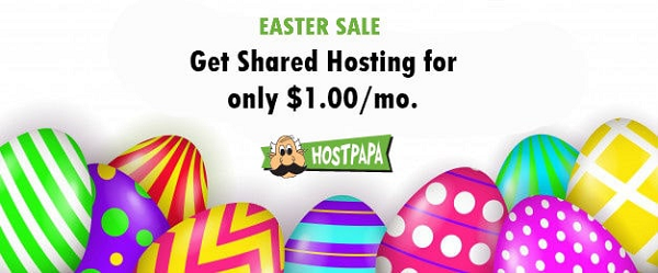 HostPapa Easter Web Hosting Sale