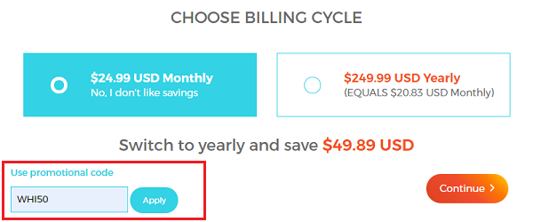 WPX Hosting Billing Cycle