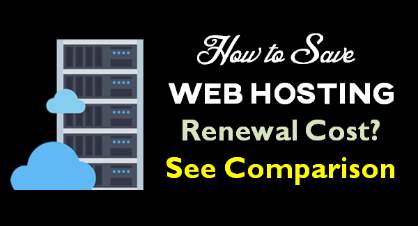 How to Save Web Hosting Renewal Prices