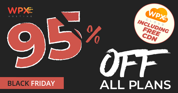 WPX Hosting Black Friday Sale - 95% OFF