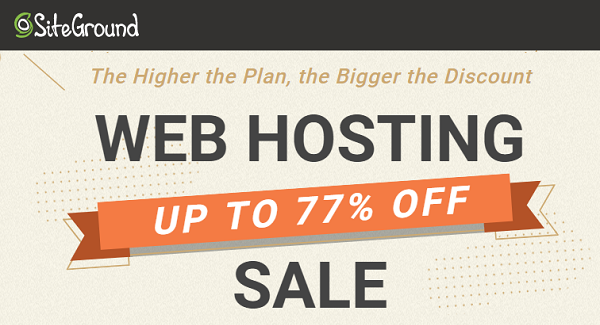 SiteGround Web Hosting Sale